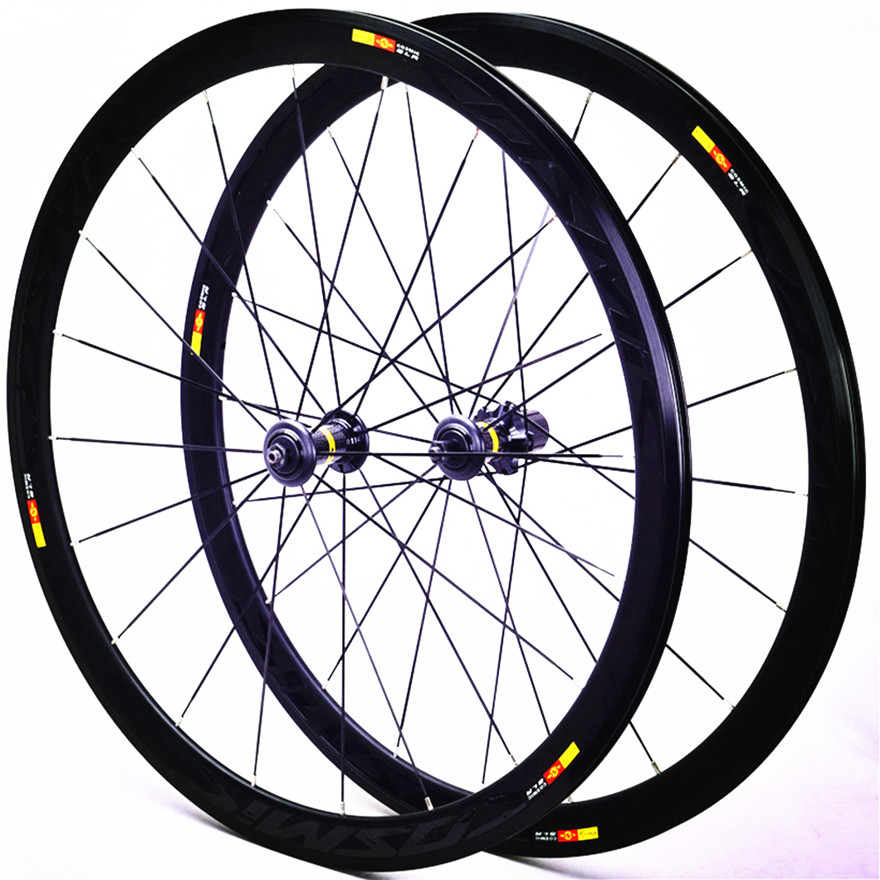 V Brake Wheels <font><b>700c</b></font> 40mm Aluminum Alloy Bicycle Wheelset Cosmic Road Bike <font><b>20H</b></font> <font><b>Rims</b></font> image