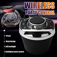 Botón de Control inalámbrico Universal para volante de coche, con luz LED, 8 funciones clave, Radio de coche, reproductor de navegador Android