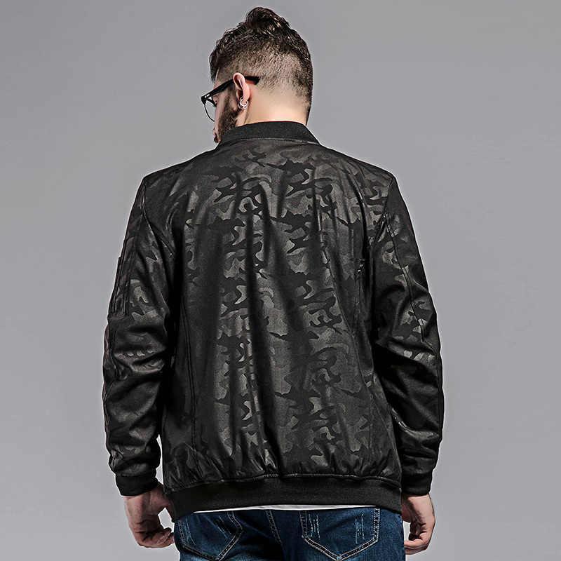 2020 neue 8XL 7XL 6XL plus größe camouflage jacke herren frühjahr und herbst mantel lose baseball kragen plus größe jacke hemd flut