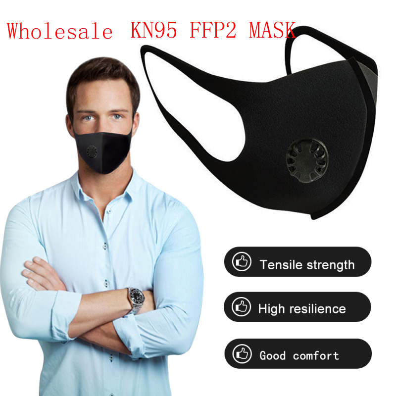 Face Masks 6 Layers Mask Proof Anti Mask Particulate Mouth Respirator Anti PM2.5 With Breath Valve Health