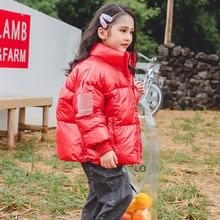 цена на BINIDUCKLING Winter Parka Down Jackets For Boy Girls Kids Waterproof Snowsuit Hooded Thick Warm Cotton Children Clothing Outwear