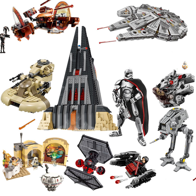 Compatible Legoinglys Star Wars Fighter X Wing Spaceship Darth Vader Castle Starwars Building Blocks Brick Toy For Kids