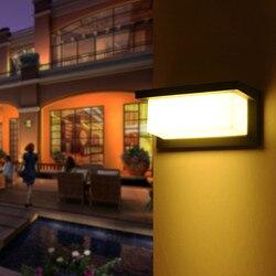 Lampa ścienna LED 10W 20W aluminium na zewnątrz wodoodporna ogród portyk Patio na bok drzwi przednie oświetlenie ac85 265v|Zewnętrzne lampy ścienne|Lampy i oświetlenie -