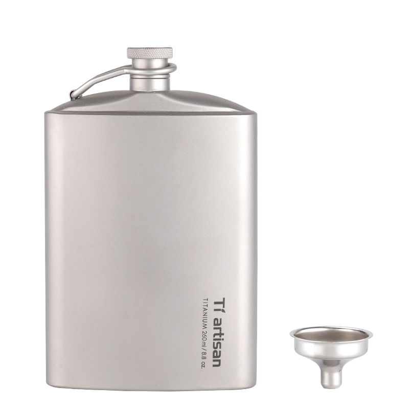 Titanium Ultralight Hip Flask Portable Wine Bottle With Funnel Camping Picnic Pocket Whiskey Alcohol Drinkware Accessories