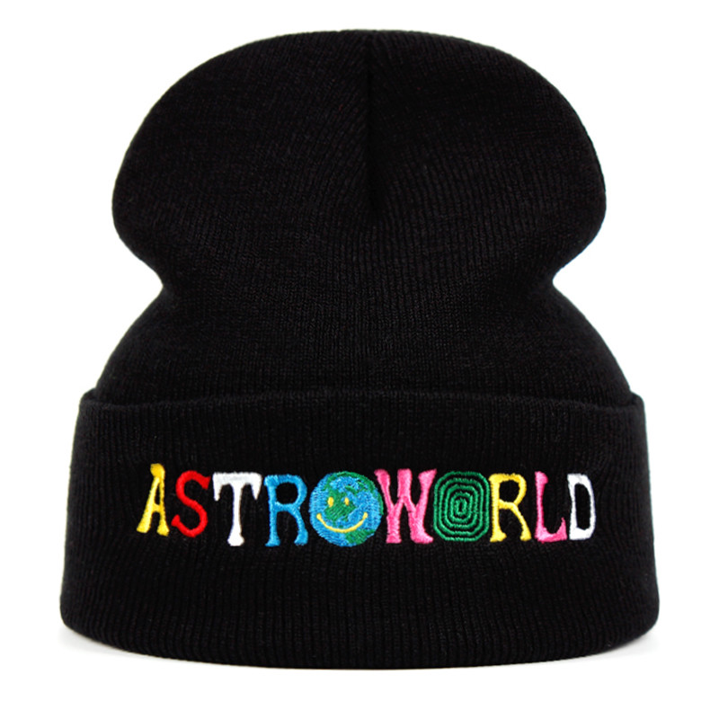 Travi$ Scott Knitted Hat ASTROWORLD Beanie Embroidery Astroworld Ski Warm Winter Unisex Travis Scott Skullies & Beanies