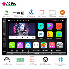 ATOTO A6 2 דין אנדרואיד רכב GPS סטריאו נגן/2x Bluetooth & aptX & IPS תצוגת/A6Y2721PRB//indash מולטימדיה רדיו/WiFi USB