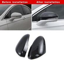ABS углеродного волокна заднего вида зеркала Накладка для Ford Fusion Mondeo 2013- авто Замена наружных частей Черный Красный наклейки