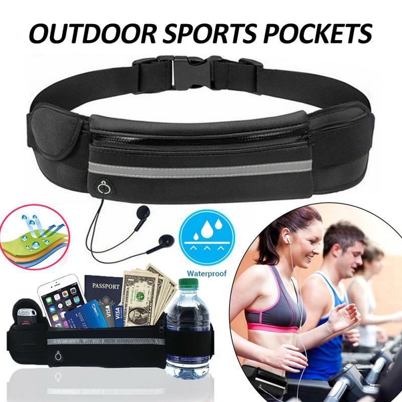 Unisex Waist Belt Bum Bag Zipper Waterproof Waist Bag For Outdoor Wear Multifunction Durable Waist Pack Belt Bag