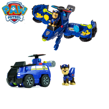 Genuine Paw patrol dog toy set puppy patrol rescue aircraft variant paw patrol plane cartoon character marshall skye chase rubble anime pattulla canina toy action figure paw patrol birthday gift children Christmas gift
