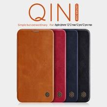 Dla iPhone se 2020 etui z klapką iphone 12 obudowa NILLKIN Qin portfel etui z klapką skórzane etui dla iphone 11/7/8 Plus/x/xs max