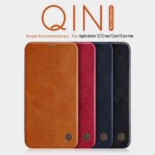 IPhone se 2020 플립 케이스 Funda iphone 12 케이스 NILLKIN Qin 지갑 케이스 iphone 11/7/8 Plus/x/xs max 용 플립 가죽 케이스
