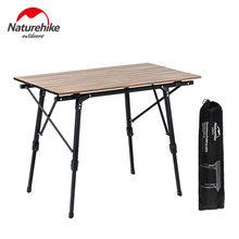 Naturehike Outdoor Folding Camping Tisch Tragbaren Teleskop Schreibtisch Mehrzweck Holz Tisch Für Picknick BBQ