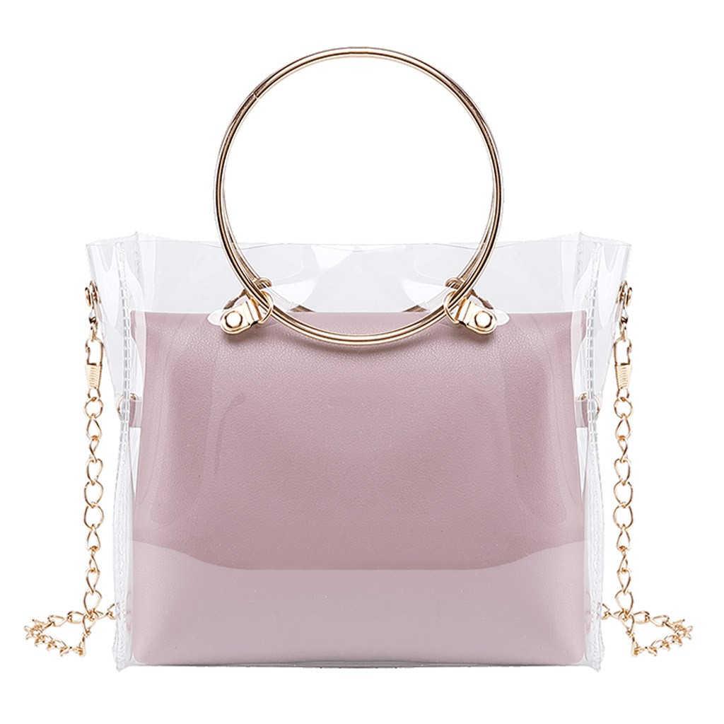 Женская сумка через плечо Aelicy, Маленькая прозрачная сумка через плечо с цепочкой, 1111, 2020