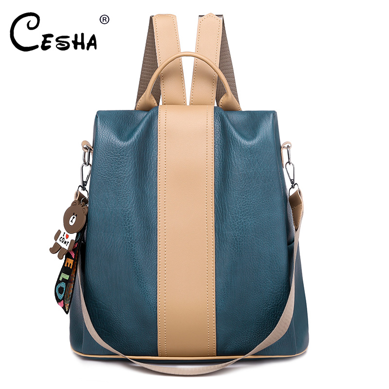 Fashion PU Leather Women Travel Backpack High Quality Durable School Backpack Pretty Style Anti Theft School Bag For Teenager