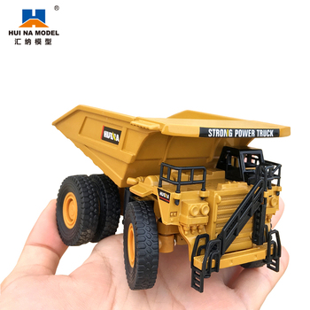 1:60 Scale Mini Diecast Alloy Dump Truck Model Full Metal Die Cast Car Toys for Boys Hobby Collection Home Decoration Huina 1812 1 43 scale mini yat ming classic 1957 ford ranchero falcon fairlane coupe metal die cast pickup pick up truck van car model kids
