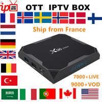 Francuski IPTV box X96 MAX android TV box 8.1 + subskrypcja IPTV szwecja belgia wielkiej brytanii polska hiszpania stany zjednoczone M3U dla dorosłych xxx smart tv pudełko