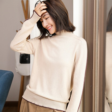 2019 Knitted Women o-neck cashmere Sweater Pullovers  Autumn Basic Sweaters