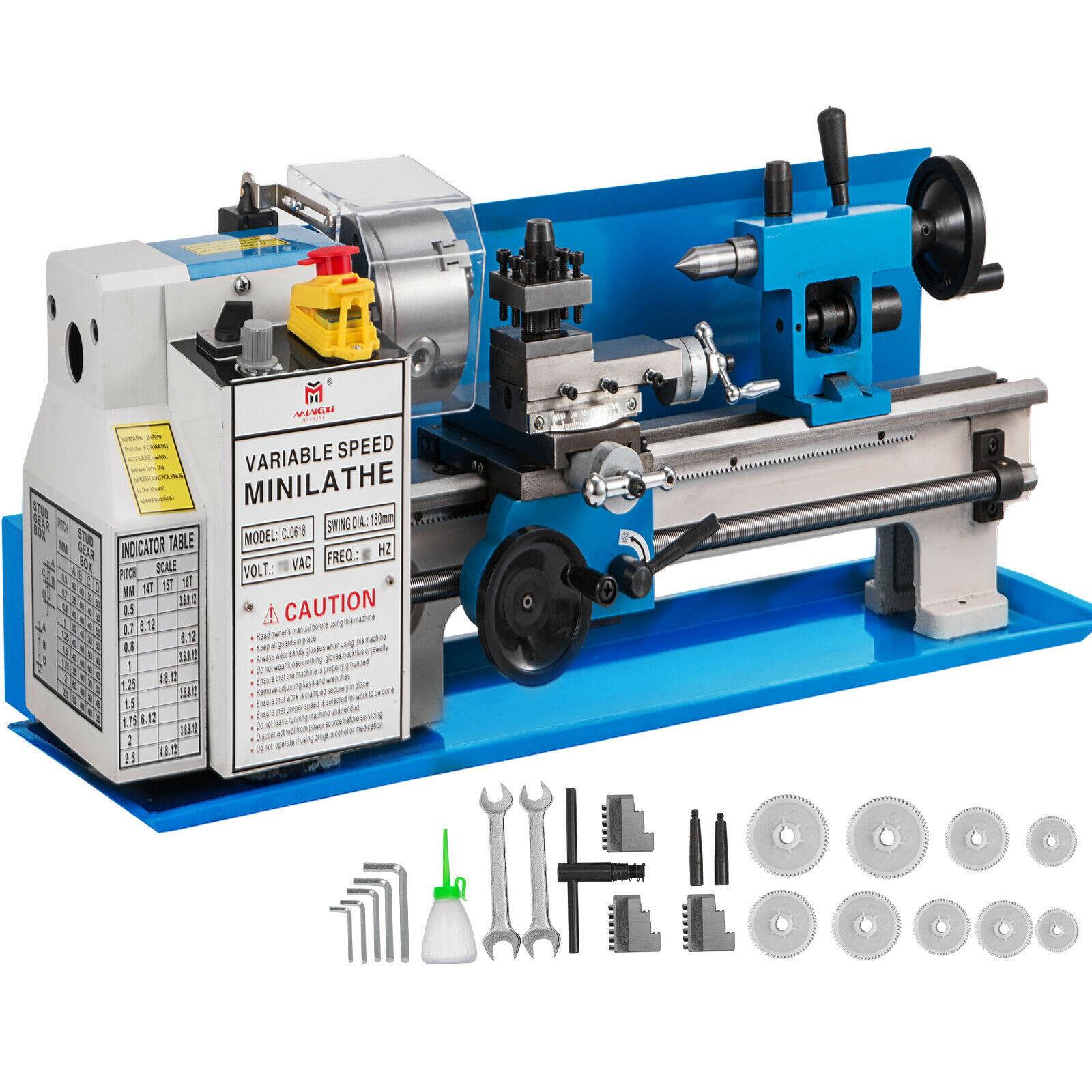 "7"" X 14"" Mini Metal Lathe 550W Precision Variable Speed 2250 RPM 0.75HP"