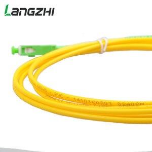 Image 2 - 10 sztuk/worek Sc Apc 3m Simplex tryb światłowodowy kabel krosowy Sc Apc 2.0mm lub 3.0mm włókien światłowodowych Ftth kabel Jumper