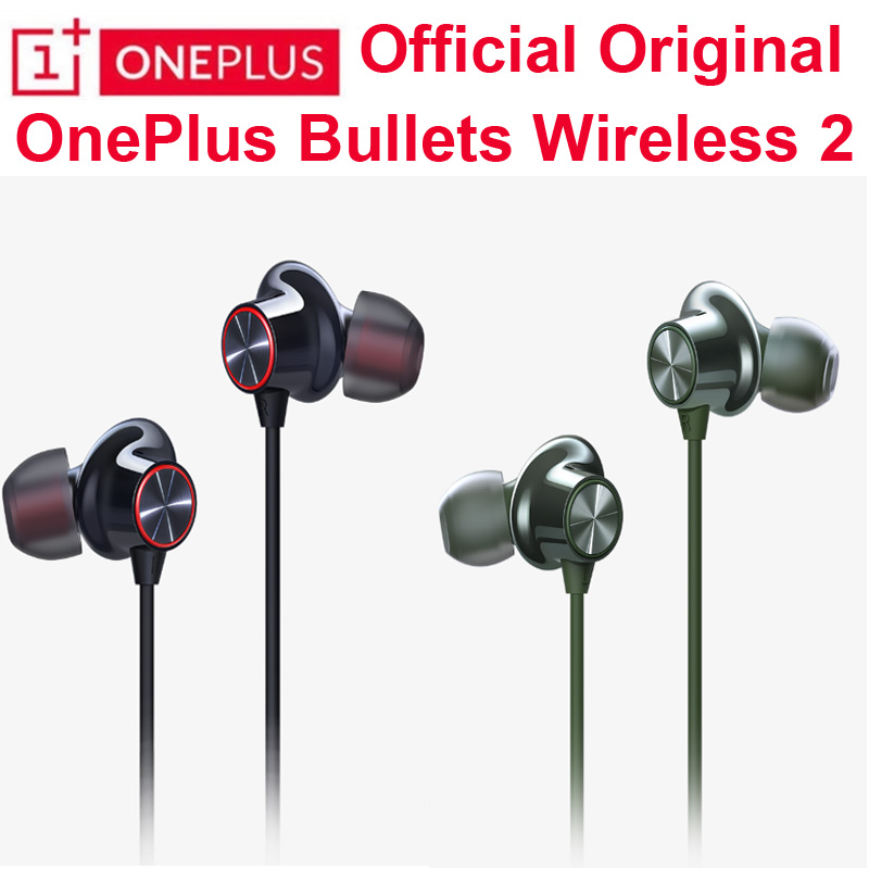 Original OnePlus Bullets Wireless 2 Apt-X HD Bluetooth Earphones Fast Charge Magnetic Google Assistant Control For Oneplus 8 Pro