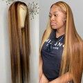 Парики из натуральных волос, парики для женщин, бразильские, 13х1, 30 дюймов