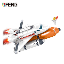 Space Adventure Bricks Series Spaceport Shuttle Launch Center Rocket Building Block Kids Toys For Children Technic