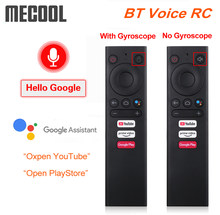 Mecool bt voz controle remoto substituição giroscópio mouse ar para android caixa de tv mecool km6 km3 km1 atv google voz tvbox