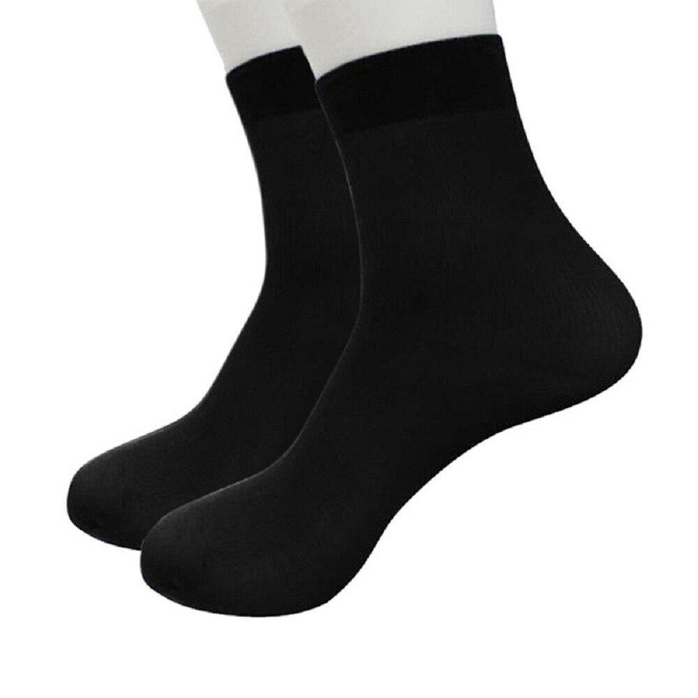 1 Pairs Bamboo Fiber Ultra-thin Elastic Silky Short Silk Stockings Men   Socks   Cotton Solid Casual Short   Sock