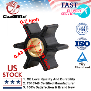 Outboard Parts Water Pump Impeller 387361 763735 18-3090 for Johnson Evinrude OMC BRP 2HP 4HP 6HP Boat Motor