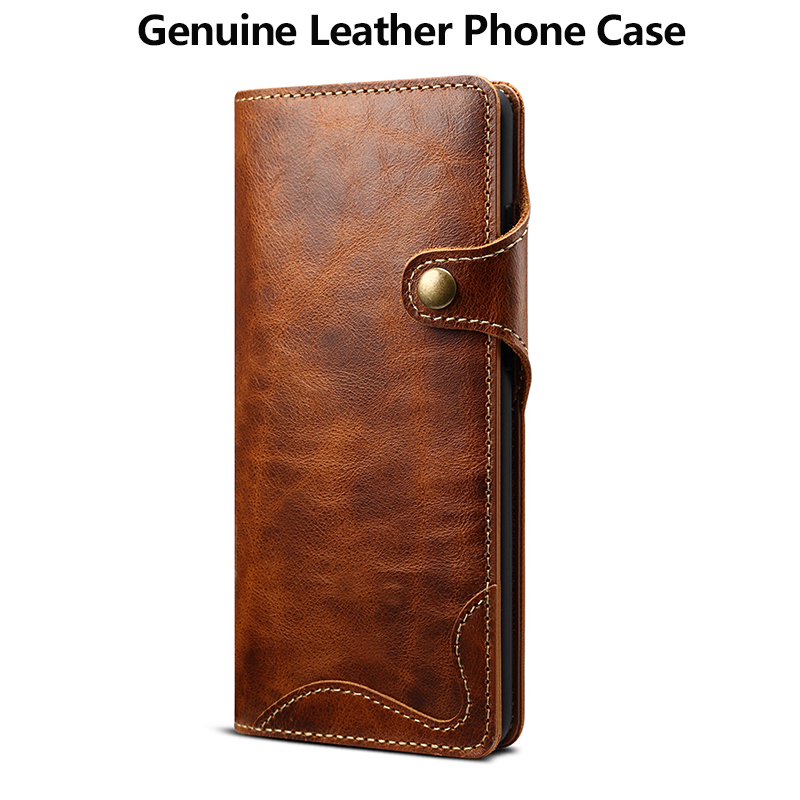100%Cowhide Genuine Leather Flip Case for Samsung S20 Ultra /S20/S20 Plus