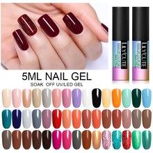 LILYCUTE гель для ногтей 5 мл чистый цвет ногтей УФ светодиодный Гель-лак для ногтей долговечный Макарон замочить Гель-лак для ногтей DIY