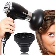 Professional Hairdryer Diffuser Cover High Temperature Resistant Silica Gel Collapsible Hood Hairdressing Salon Tools