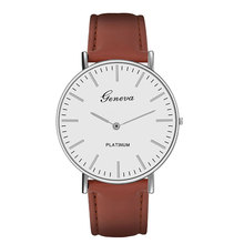 Leather Business Man Quartz Watches Top Brand Luxury Sport For Men Casual Geneva Wristwatch Relogio Masculino цена и фото