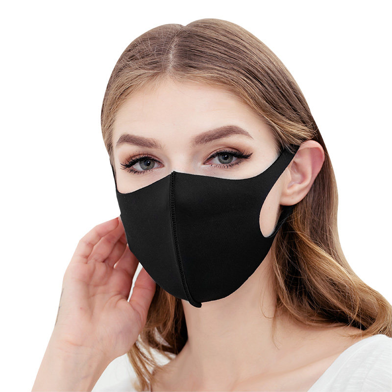 Reusable Anti-Dust Anti-PM2.5 Pollution Mouth Face Mask Cover Washable Cotton Mask Filter 3D Earloop Face Mask Black