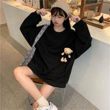 Толстовка Женская кавайная одежда однотонные пуловеры с круглым