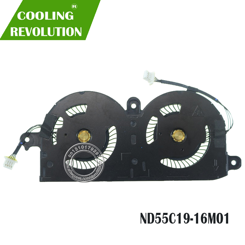 Вентилятор охлаждения процессора для ноутбука ND55C19 DC05V 0.40A-16M01 4PIN для Dell XPS 13 9370 0980WH 980WH CN-0980WH