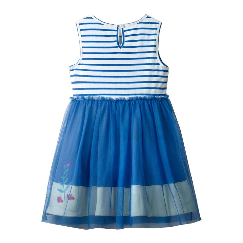 2021 Summer Girls Dress Brand Casual Kids Clothes Party Princess Dresses for Children Costume Embroidery Mermaid 3