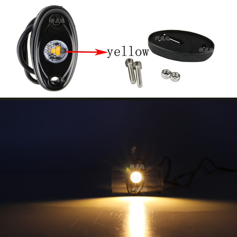 Atmosphere Lamp Rv Ship Deck Adornment Small Lights LED Automobile Refitting Universal 9 W Light Yellow Light Chassis