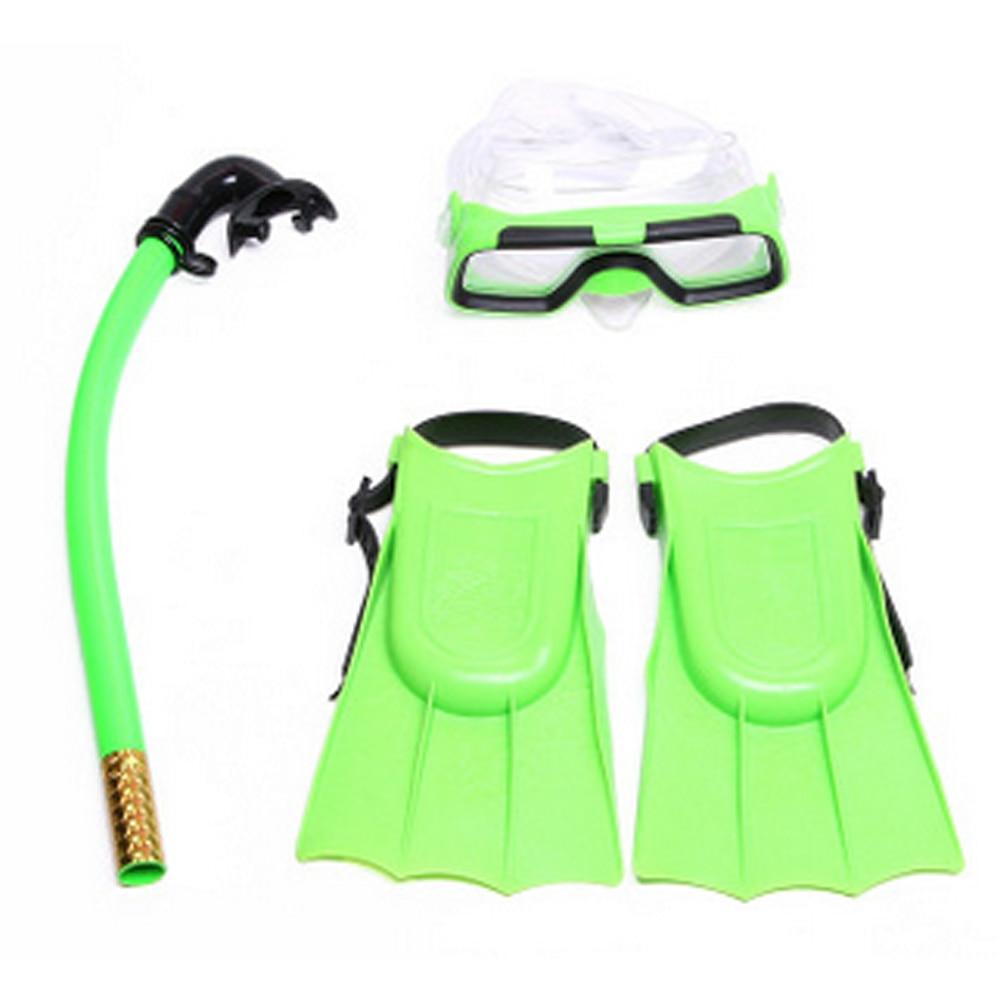 Behavetw Three Sets Snorkel Tube Mask Anti Fog Swimming Goggles UxradG Scuba Swimming Pool Diving Webbed Foot