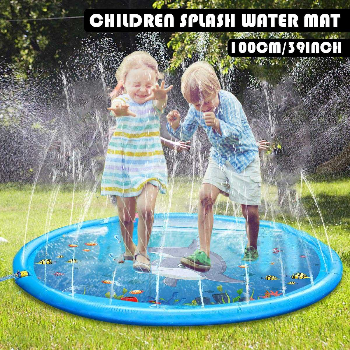 Hot Summer Children's Baby Play Water Mat Games Beach Pad Lawn Inflatable Spray Water Cushion Toys Outdoor Tub