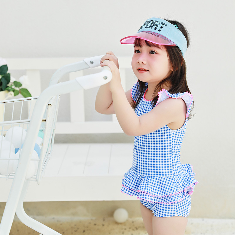 KID'S Swimwear Girls Baby Girls Small CHILDREN'S South Korea Tour Bathing Suit Holiday Quick-Dry Camisole Princess Dress-One-pie