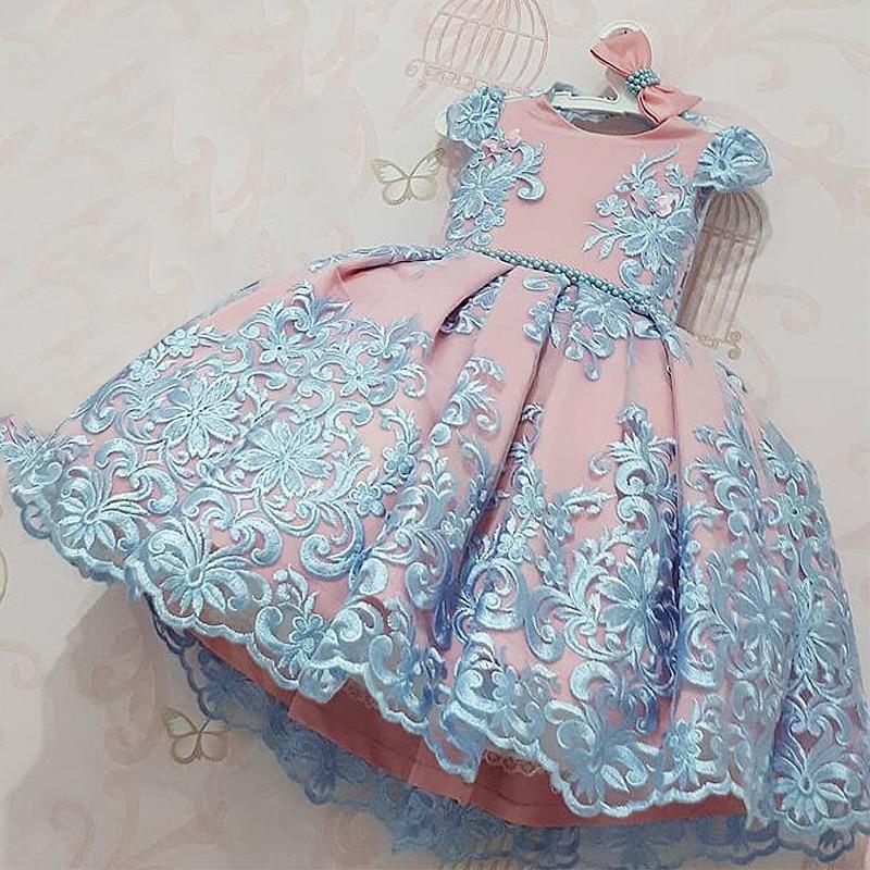 Hdb1b8b1b103747718b6b33a53e831719V Girls Dress Elegant New Year Princess Children Party Dress Wedding Gown Kids Dresses for Girls Birthday Party Dress Vestido Wear