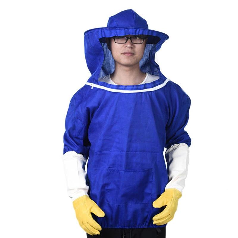 Beekeeping Jacket Pull Over Smock Protective Equipment Bee Keeping Suit Hat WWO66