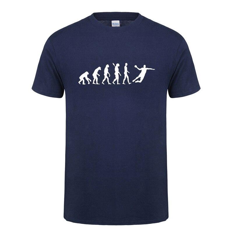 Evolution Handball T-Shirt Funny Birthday Gift For Men Boyfriend Faddish Vaporwave Short Sleeve O Neck Cotton T Shirt Tshirt