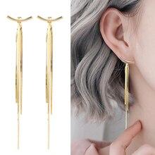 2020 New Trendy Earings Fashion Jewelry Earrings for Women Korean Earrings Tassel Gold Color Earrings Drop Earrings Jewelry trendy earrings set 6 pairs earings stud statement earrings big drop earrings jewelry earrings for women pearl earings gold 2020