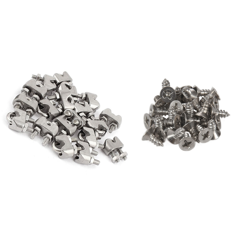 40 Pcs Accessories: 30Pcs M4 X10Mm Phillips Flat Head 304 Stainless Steel Screws & 10 Pcs M4 5/32 Inch 304 Stainless Steel U-Sha