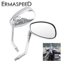 Espejos retrovisores universales para motocicleta, accesorios de espejo lateral cromado de 10mm para Motocross, Scooter, Moto de carreras