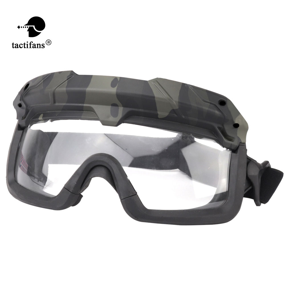 Airsoft Paintball Tactical Goggles Safety Military Helmet Clear Glasses Eyes Protection Shooting CS Game Anti-fog Anti-scratch