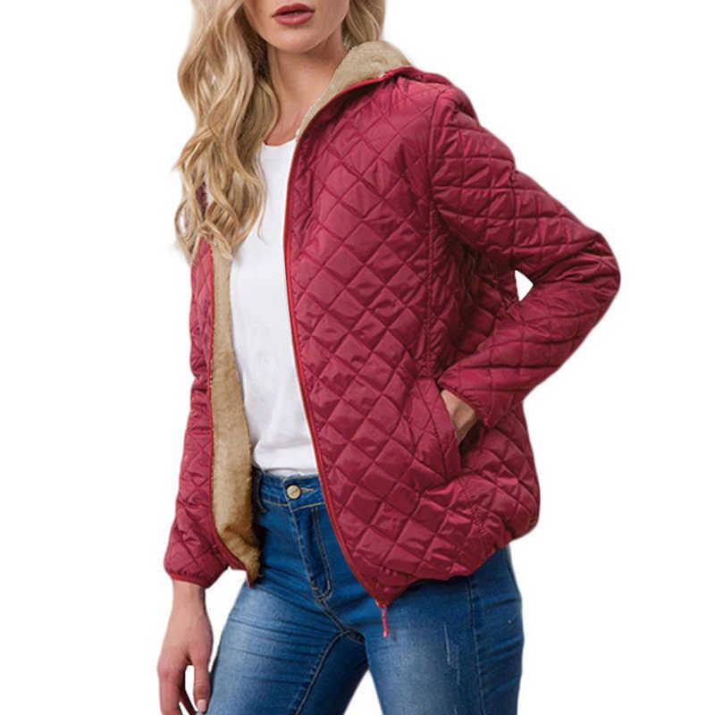 2019 Winter Warme Parkas Mit Kapuze Jacke Frauen 2019 Casual Mujer Outwear Mantel Herbst Fleece Frauen Kleidung Manteau Femme Mäntel