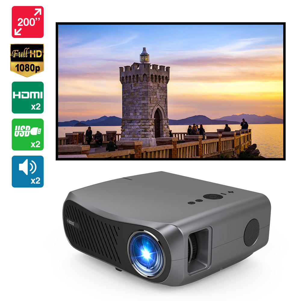 CAIWEI A12 Home Theater Native 1920*1080P Full HD LCD Projector 10000:1 Ratio Support 4K Smart Android TV Led Cinema WiFi Beamer